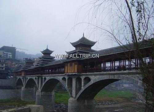 锦屏风雨桥图片 贵州锦屏风雨桥景点图片 黔东南锦屏风雨桥景点图片