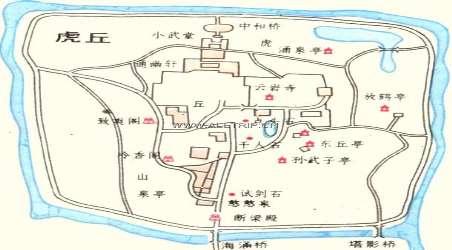 虎丘手绘高清平面图