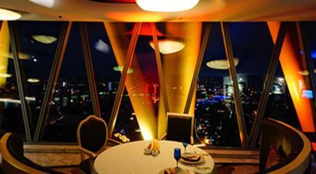 去广州塔106层璇玑地中海自助旋转餐厅