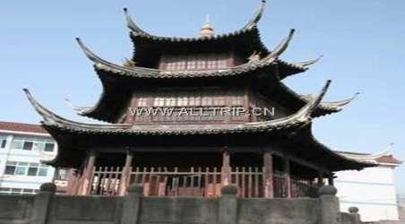 为两层四方塔形楼阁.建于明代正德年间,古朴端庄.