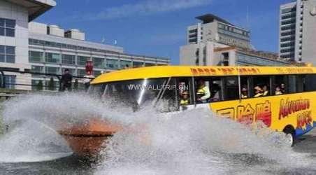 青岛旅游 景点 冒险鸭水陆两栖观光巴士