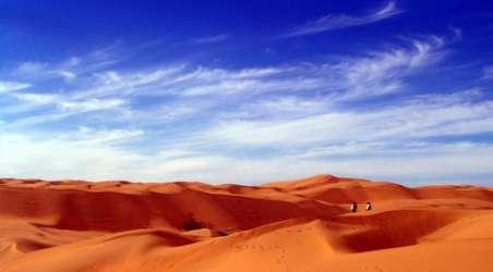 塔克拉玛干沙漠,位于南新疆塔里木盆地