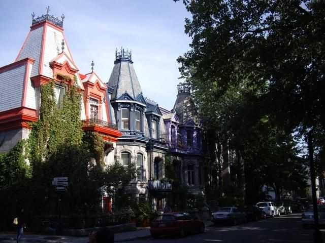 蒙特利尔的闹市区 高清图片