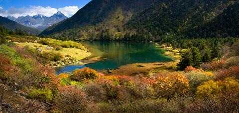 木格措又名野人海,大海子,是川西北最大的高山湖泊之一.